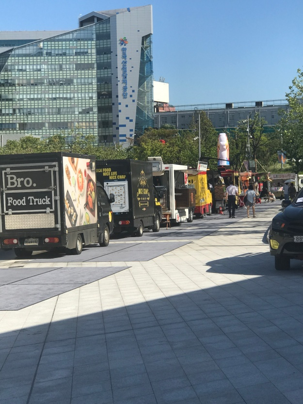 There were tons of food trucks lined up.